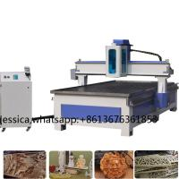 China Low cost vacuum and t slot table 3kw water cooling spindle wood stair cnc router machine hot sale on sale