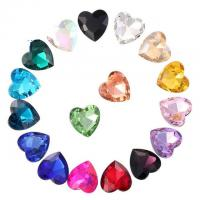Best Point Back Love Heart Shaped Glass Glue On Rhinestones Bling Sparkling Embellishments Furniture Clothing Accessories wholesale