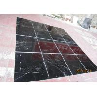 Cheap Black Marquina Marble Floor And Wall Tiles , Nero Marquina Marble Tiles Non Slip for sale