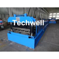 Best Roof Wall Panel Cold Roll Forming Machine / Roof Wall Cladding Roll Forming Machine With PLC Control System wholesale