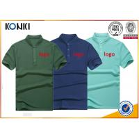 Men s navy color personalized polo shirts stand collar fashion t