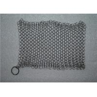 Best Kitchen Cleaning Chainmail Scrubber For Cast Iron Cookware , Stainless Steel 316 wholesale