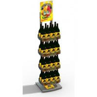 Best Advertising 4 Layer Light Duty Beverage Display Racks With Three Sided wholesale