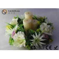 Best Flickering Flame Led Wax Candle , Advent Wreath Votive Candles Multi Color wholesale