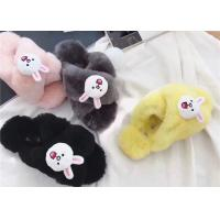 Best Durable Black Smooth Sheep Wool Slippers , Womens Scuff Slippers wholesale