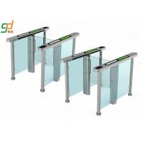 Best AC 220V Glass Electric Swing Gate Turnstiles 40 People / Min Normal Open wholesale