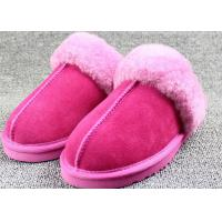 Best Customized Winter Sheep Wool Slippers For High Class Apartments / Hotels wholesale