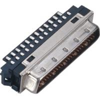 Buy cheap Male 1.27*2.54 Pitch Computer Pin Connectors SCSI 50 Pin Connector With Welded from wholesalers