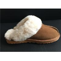 Best Women's Sheepskin Slippers Shoes Luxurious Sheepskin Closed Toe Slippers wholesale