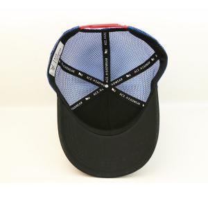 Cheap 100% Polyester Mesh Hat / Distressed Blue 5 Panel Mesh Trucker Cap Baseball for sale