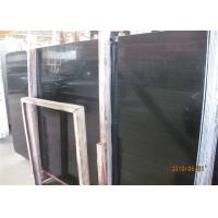 Best Black Wood Marble Wall Slab , 20mm Marble Stone Tile Vein Cut / Cross Cut wholesale
