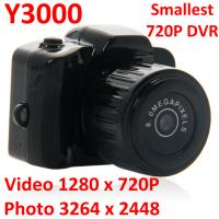 Best Y3000 8MP Thumb 720P Mini DVR Camera Smallest Outdoor Sports Spy Video Recorder PC Webcam wholesale