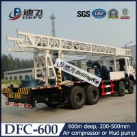 Best 600m Depth DFC-600 Truck Mounted Water Well Drilling Rigs for Hard Rock with Mud Pump wholesale