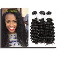 Best 1B Color Deep Wave Peruvian Virgin Hair Extensions Raw Unprocessed wholesale