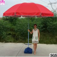 Best Red / Blue Waterproof Parasol Umbrella With Powder Coated Rib wholesale