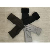 Best Super Soft Genuine Sheepskin Suede Leather Shearling Mittens SGS BV wholesale