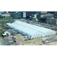 Cheap Outdoor Trade Show Tent Hall , curve White Event Marquee for sale