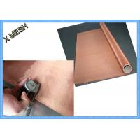 Copper Fine Micro Screen Woven Metal Wire Mesh 30m Length Abrasion Resistant