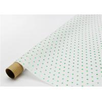 Best Fade Resistant Hot Stamping Tissue Paper 17gsm Green Dot For Bouquet wholesale