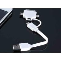 Best White Powered 4 in 1 Micro USB Charger Cable , Iphone Lightning To USB Cable wholesale