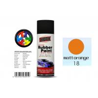 Buy cheap Matt Orange Color Rubber Based Spray Paint 60 Min Hard Dry With REACH Certificate from wholesalers