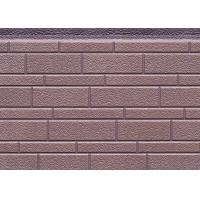 China 380mm Width Decorative PU Sandwich Wall Panel For Exterior , 16mm Thickness on sale