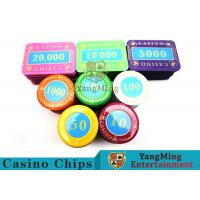 Best Multi - Color Print Crystal Casino Poker Chip Set Tough And Durable wholesale