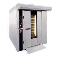 China 32 Trays Gas Rotary Rack Oven For Bread with stianless steel body sliver color on sale