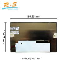 Buy cheap 7 inch  Auto LCD Screen , industrial display lcd screen panel G070VVN01.2 800x480 from wholesalers