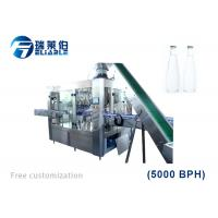 Best SUS 304 Carbonated Drink Glass Bottle Filling Machine Full Automatic Low Noise wholesale