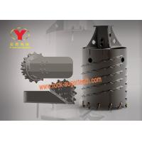 Cheap Rotary Drill Carbide Trencher Teeth Anti Impact With Three Wing / Core Bucket for sale