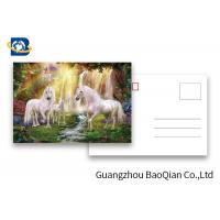 Best Full Color Animated Postcards , Two Sides Custom Lenticular Printing 0.6 MM PET wholesale