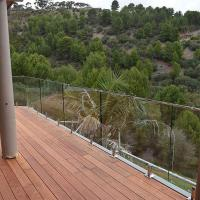 Cheap Frameless Toughened Glass Balustrade with Stainless Steel Spigot for sale