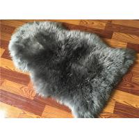 Best Real Sheepskin Rug Natural Large Light Grey dyed Long lambswool Home Decorative rug wholesale