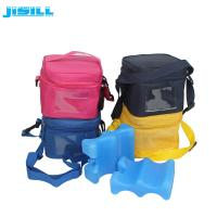 Best 4 Bottle Carry Insulated Wine Beer Bottle Cooler Bag with wavy shape ice pack wholesale