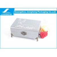 Best Chocolate Faux Leather Gift Box / Leather Packaging Boxes With Metal Standards wholesale