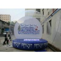 Buy cheap Winter Wonderland Inflatable Snow Globe Large Diameter For Huge Containing from wholesalers
