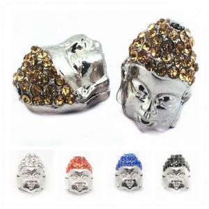 Best Handmade Jewelry Findings Buddha Crystal Pave Shamballa Charms / Pendants wholesale