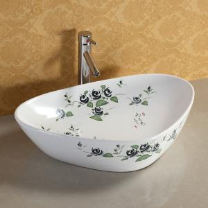 Best housing decoration bathroom ceramic square luxury sink top shower modern design ceramic hand wash basin wholesale