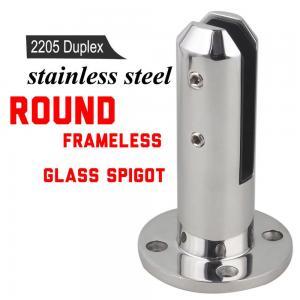 Cheap High Polish 304 316 Stainless Steel Frameless Glass Pool Fence Spigot for sale