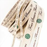 Best 100% Natural Eco-Friendly Custom Printed Personalised Cotton Ribbon Wholesales wholesale