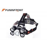 Best 3000 LMs 5 LEDs Outdoor Cree Led Headlamp for Outdoor Emergency Camp Fishing wholesale