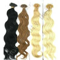 """Best 30"""" Custom Human Hair Wigs , 100% Remy Human Yellow And Brown I - Tip Pre Bonded Hair Extension wholesale"""