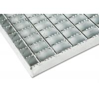 China Anti Rust Stainless Steel Bar Grating Optional Serrated / Algrip Surfaces on sale