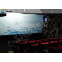 Best Electric Black / Blue Motion Chair 4D Movie Theater With Simulator System Chair Effect wholesale
