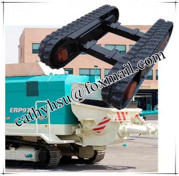 Cheap custom built Concrete pump rubber track undercarriage rubber track chassis undercarriage from China factory for sale
