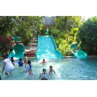 Best Swimming Pool Play Fiberglass Water Park Equipment Family Wide Slide For Kid wholesale