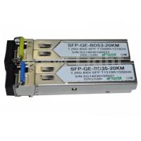 Best 1G Single mode SFP BIDI transceiver 1.25G 1310nm / 1550nm 20km LC / SC DDM WDM SFP wholesale