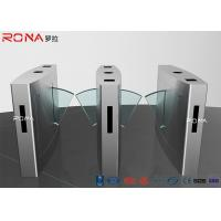 Best Durable Pedestrian Turnstile Gate , Flap Turnstile Entry Systems 0.6s Operating Time wholesale