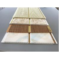 Best 10 Inch Latin America Ceiling Decorative PVC Panels With Golden Lines wholesale